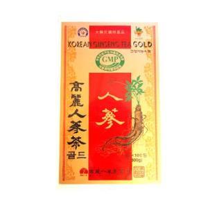 高麗人参茶GOLD・粉末状(3gx100包・木箱)粉末茶 健康茶 伝統茶 韓国お茶 韓国飲み物 韓国食品 風邪予防対策|paldo