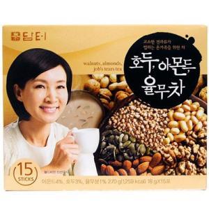 『ダムト』クルミ・アーモンド・ハトムギ茶|ユルム茶 270g(18gx15包入) 韓国お茶 健康茶 ...
