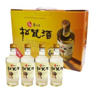 【ギフトセット】『ソルレウォン』自然産松茸酒(300ml×4本) 松茸酒 伝統酒 韓国お酒|paldo