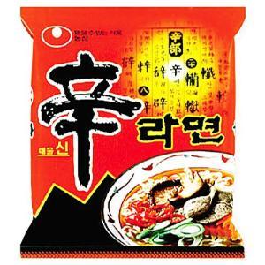 『農心』辛ラーメン(120g×1個) シンラーメン ノンシム NONG SHIM 韓国ラーメン インスタントラーメン 韓国料理 非常食 韓国食品|paldo