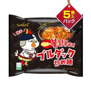 『三養』ブルダック炒め麺|火鶏炒め麺・激辛口(5個入りパック) ■1個当り137円|paldo