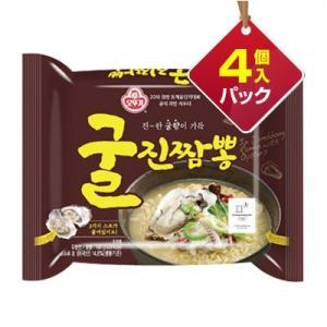 『オトギ』グルチャンポン | 牡蠣ジンチャンポン・中辛(4個入りパック)  ■1個当り221円 オトッギ インスタントラーメン カキ 海鮮  韓国ラーメン|paldo