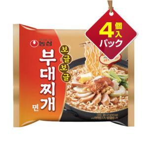 『農心』ぐつぐつ ブデチゲ麺(127g×4個) ■1個当り200円 ノンシム 韓国ラーメン インスタントラーメン 韓国食品|paldo