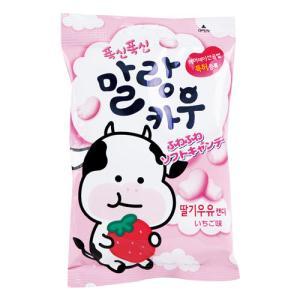 『ロッテ』マランカウ いちご味(79g) マシュマロキャンディ ふんわり食感チューインキャンディー ヤクルト味 韓国お菓子 韓国食品|paldo