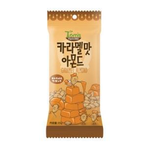 『Tom's farm』キャラメル アーモンド(35g) ナッツ ハ二−バタ− アーモンド おやつ おつまみ 韓国お菓子 韓国食品|paldo