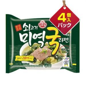 『オトギ』牛肉わかめスープラーメン(4個入りパック)■1個当り213円 オットゥギ 韓国ラーメン インスタントラーメン 韓国料理 韓国食品|paldo