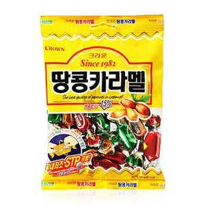 『CROWN』ピーナッツキャラメル(120g) [クラウン][韓国カラメル][韓国飴]|paldo