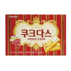 『CROWN』ククダス|ホワイトチョコ入りクッキー(72g) クラウン クッキー 韓国お菓子