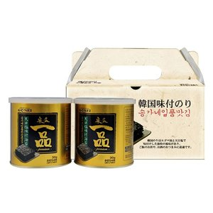 【ギフトセット】『宋家』一品のり|味付けのり(30gx2缶)■紙バック付 のりセット 韓国のり 韓国海苔 韓国食材 韓国食品|paldo