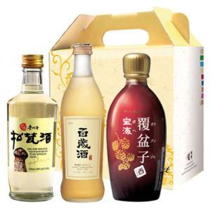 【ギフトセット】健康酒3種セット ■山査春、百歳酒、宝海覆盆子酒■韓国お酒 韓国酒|paldo