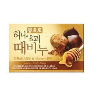 ★宅急便コンパクト発送★『韓国の石けん』蜂蜜&栗皮垢擦石鹸(100g) | 韓国垢すり石けん|paldo