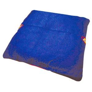 ■韓国座布団■韓国の伝統のざぶとんセット【濃い青色】綿入り50cmx50cm■韓国雑貨|paldo