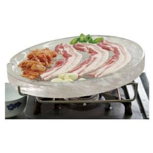 『調理器具』水晶プレートセット・焼肉用|(台付) 焼肉プレート キッチン用品 調理器具 韓国雑貨|paldo
