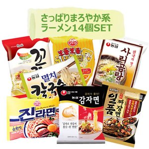 【韓国さっぱりまろやか系ラーメンSET】7種類x2個=14個入りパック|ラーメンセット 韓国ラーメン インスタントラーメン 韓国食品|paldo