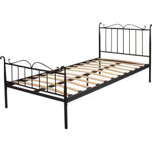 ベッド ベッドフレーム ウッドスプリング シングル ブラック ホワイト|palette-life