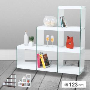 シェルフ ラック おしゃれ 棚 3段 オープンラック ガラス 収納|palette-life
