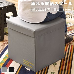 スツール ボックススツール 収納 収納ボックス モノトーン ポリエステル|palette-life