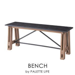 ベンチ 椅子 おしゃれ ダイニングベンチ 木製 インダストリアル palette-life