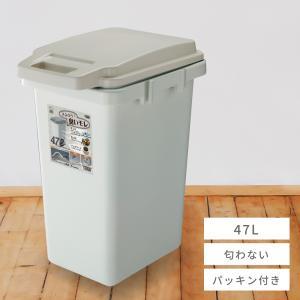 ゴミ箱 生ごみ用 45リットル ダストボックス 蓋ロック キッチン フタ付き おむつ ドッグフード 分別|palette-life