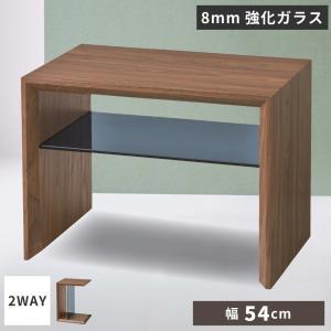サイドテーブル おしゃれ ナイトテーブル 棚付き 木製 2WAY 縦横 palette-life
