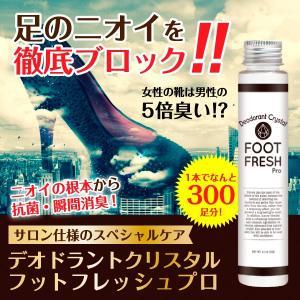 デオドラントクリスタルフットフレッシュプロ60g 消臭 消臭パウダー 抗菌 足 ニオイ 粉末 靴消臭|palette-store01