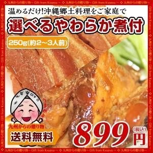 ポイント消化  2種から選べる 沖縄郷土料理1袋 軟骨ソーキ ラフティ お取り寄せ 送料無料 訳あり グルメ わけあり ご飯のお供 食品 肉 惣菜 得トクセール|palm-gift