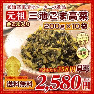 金ごま入り 元祖ごま高菜(220g)X10袋 ウコン塩漬込み高菜漬に焙煎胡麻を加えて仕上げた グルメ 送料無料 食品 ご飯のお供 b1 漬物 つけもの|palm-gift