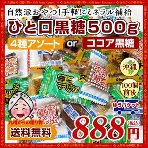 黒糖 訳あり お菓子 琉球黒糖 ひと口黒糖4種 約500gセット 4種類の味食べ比べ 機内サービスでも  訳あり お取り寄せ 送料無料 スイーツ お菓子 お試し わけあり