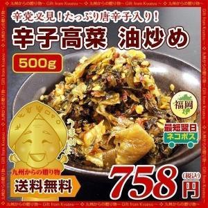 辛子高菜(500g)油炒め」×1袋