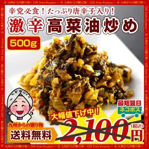 激辛辛子高菜(500g)油炒め」×1袋
