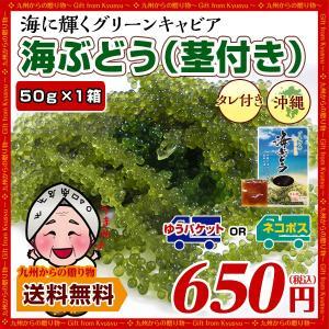 ポイント消化 沖縄県産 海ぶどう (1箱+シークヮーサー風味タレ付) 戻し方の紙入り 届いてすぐ食べれる お取り寄せ 送料無料 得トクセール わけあり 海ぶどう palm-gift
