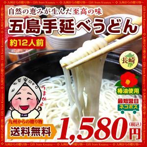 お取り寄せ 長崎 名産 幻の五島うどん (手延べ うどん )約12人前 ツルッとのどごし 送料無料 麺 食品 お試し 得トクセール うどん 食品 麺 乾麺 b1|palm-gift
