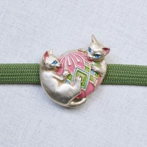 おしゃれな帯留め ネコ 猫 CAT PalnartPoc直営 アクセサリー 可愛い ブランドパルナートポック直営店 ホメオスタシス 帯留め|palnartpocstore