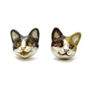 猫 ピアス レディース  ポイント消化 揺れる サージカルステンレス PalnartPoc ブランド パルナートポック直営 プレゼント  トムミケピアス|palnartpocstore