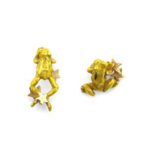 かえる 蛙 ユニーク 可愛い 揺れる ピアス レディース サージカルステンレス PalnartPoc ブランド パルナートポック直営 プレゼント かえるピアス|palnartpocstore