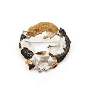 ブローチ おしゃれ 猫 ねこ レディース PalnartPoc パルナートポック 公式 ブラフシューペリア プレゼント ネコブローチ|palnartpocstore