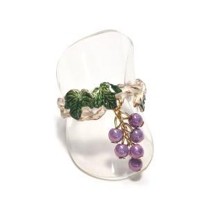 リング ファッションリング ぶどう 葡萄 紫 レディース PalnartPoc パルナートポック 公式 ブラフシューペリア プレゼント シャトーリング|palnartpocstore