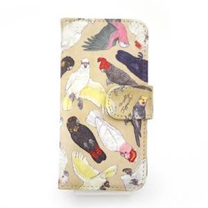 セール 半額  ポイント消化 オウム科の鳥類 iPhone6 iPhone5・SE ケースPalnartPoc 手帳 手帳型 アイフォン ケース カバー マグネット カード入|palnartpocstore