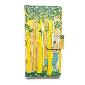 春の森  スマートフォンケースiPhone6,iPhone7,iPhone8兼用 手帳 手帳型 アイフォン ケース カバー マグネット カード入 palnartpocstore