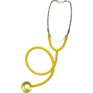 カラー聴診器 外バネ、シングルタイプ No.110 黄色|palstore