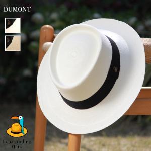 定番カンカン帽 ホワイト&ナチュラル デュモン パナマハット メンズ レディース エクアアンディーノ...