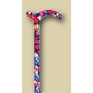 英国製総花柄伸縮杖/ダークブルーレッド|panastick