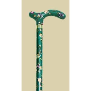 英国製総花柄伸縮杖/グリーン|panastick