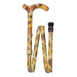 英国製ナショナルギャラリー折りたたみ伸縮杖ひまわり|panastick