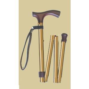 折りたたみ伸縮杖/メタリックゴールド|panastick