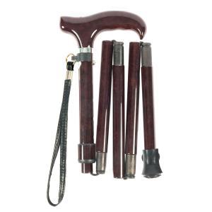 旅行のお供に 超 軽量 折りたたみ伸縮杖 オールカーボン ダークワイン PC04|panastick