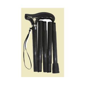 オールカーボン折りたたみ杖 マイリーフブラック panastick