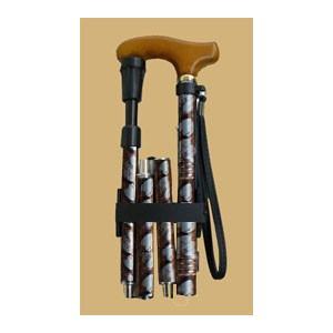クッション機能付折りたたみ伸縮杖V06400|panastick