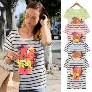 レディースT Tシャツ ボーダー パステル ネオン アニマル セレブ アメカジ系 ストリートファッション系 レディースレディースデザイ|pancoat