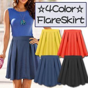 flare skirt フレアスカート レディース カジュアル 基本スカート 無地スカート シンプル ゆるかわ ガーリー セレブ アメカジ系 レディ|pancoat